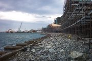 Sicurezza cantiere per la realizzazione del porto turistico di Varazze