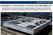 Inaugurate le nuove aule P del Politecnico di Torino
